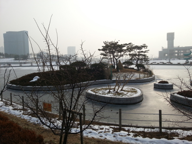 Songdo Central Park Winter