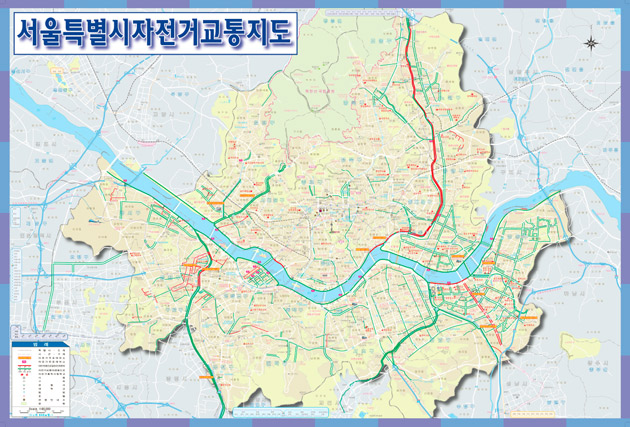 Bicycle Map of Seoul