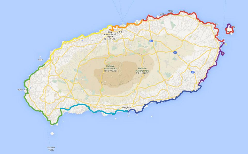 Jeju-do Bicycle Paths