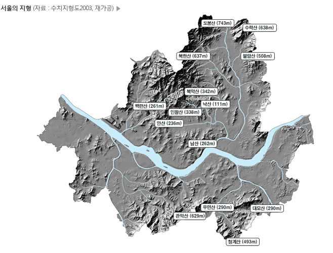 Topography of Seoul