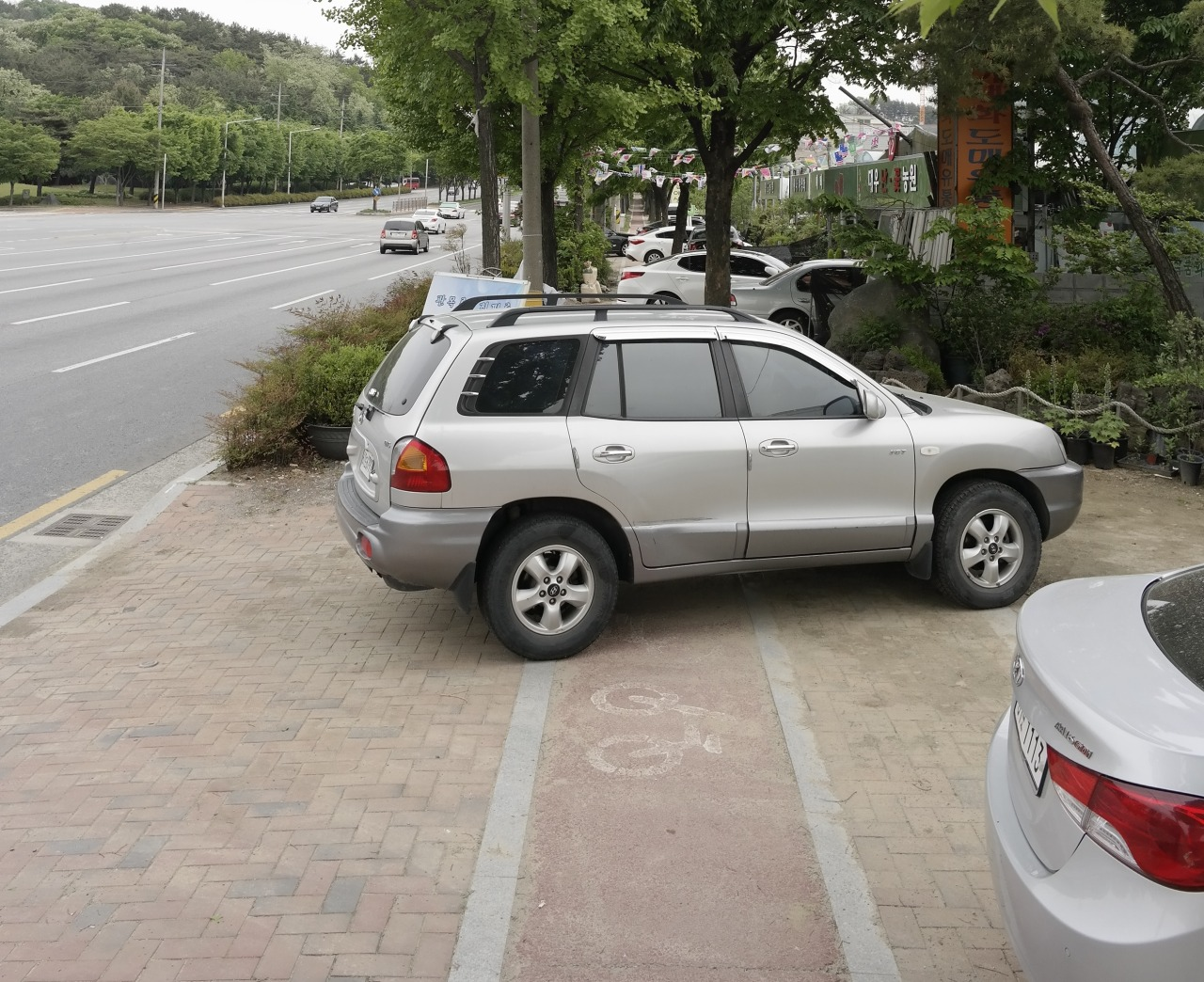 Parking on Sidewalks in Korea
