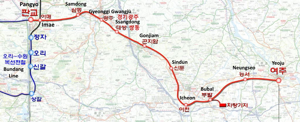 Yeoju Line Route